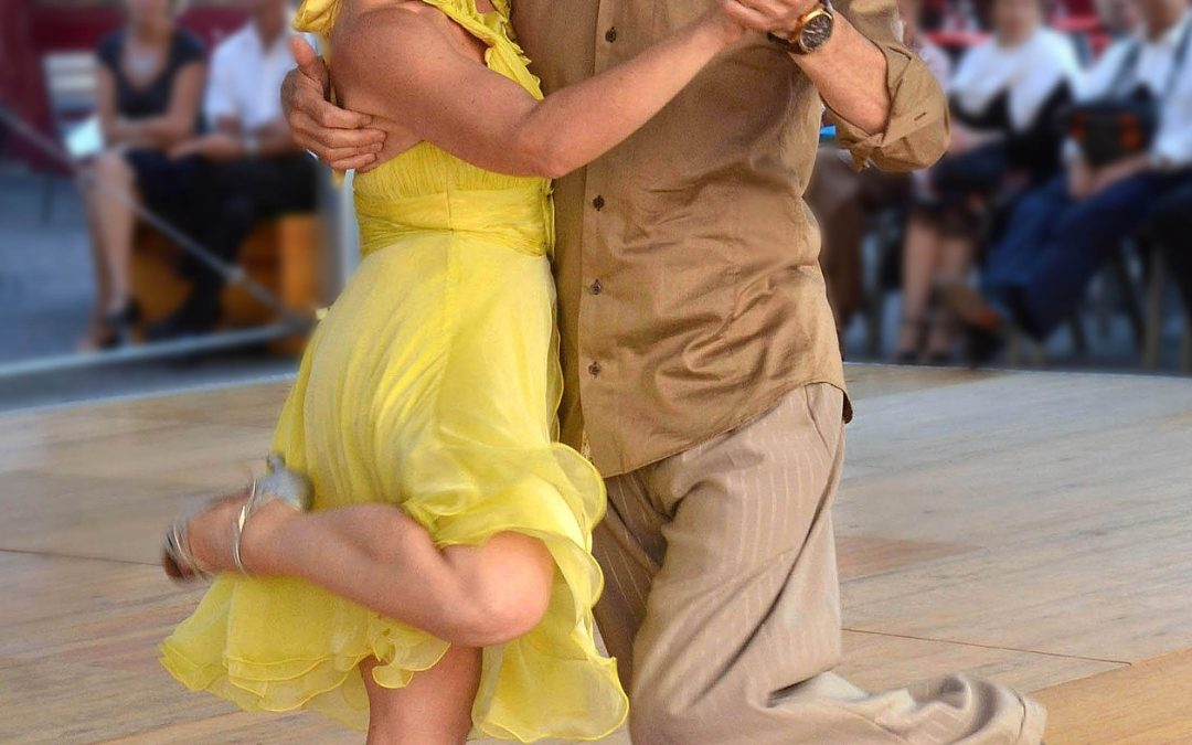 Couple Dancing And The Beginning Of Tango